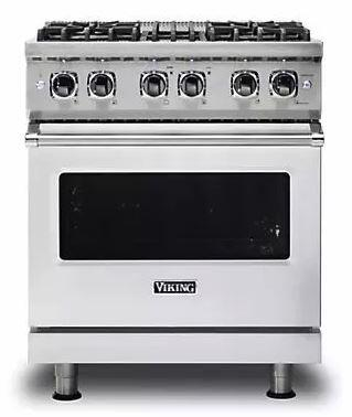 Viking 5 Series VDR5304BSS Freestanding Dual Fuel Range Stainless Steel, Main image Front view