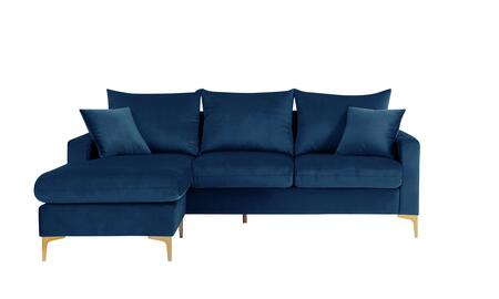 Chic Home Alexandra FSA9515AC Sectional Sofa Blue, Main Image