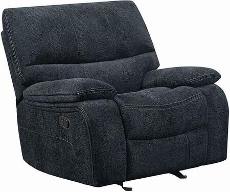 Coaster Perry 601939 Recliner Chair Blue, Main Image