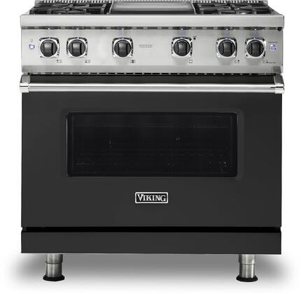 Viking 5 Series VGR5364GCSLP Freestanding Gas Range Black, VGR5364GCSLP Gas Range