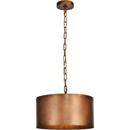 LD6015D15BR Miro 1 Light 15 inch Manual Brass Pendant Ceiling