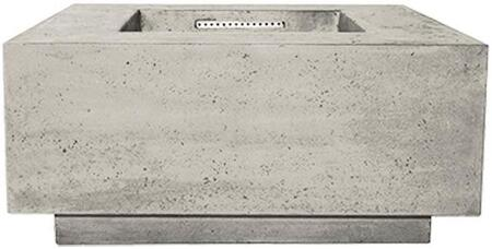 PH-406-3NG 36″ Tavola Series Natural Gas Fire Table with 65 000 BTU Orifice  Glass Fiber Reinforced Cement Construction and Key Valve Ignition in