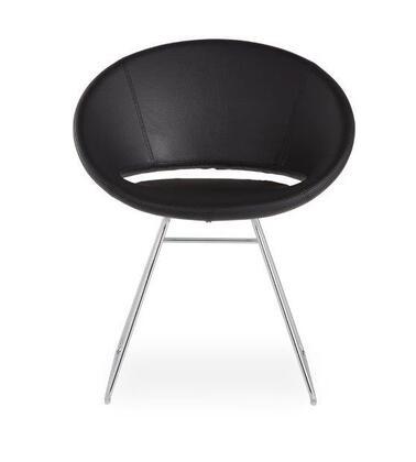 Delancey 100-BT-PN- BEL-CH Sled Chair in Black Eco