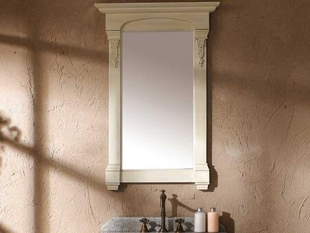 "Brookfield Collection 147-114-5145 26"" x 41"" Mirror with Hand Carved Filigrees and Molding Details in Cottage"