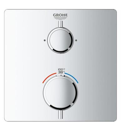 Grohtherm 24111000 Single Function 2-Handle Thermostatic Trim  in