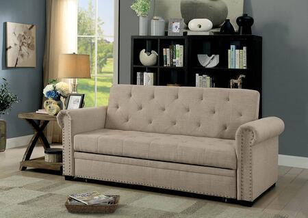 Furniture of America Iona CM2603PK Sofa Bed Beige, Main Image