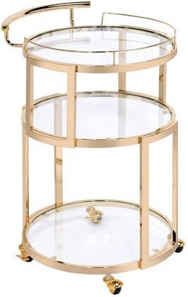 Acme Furniture Madelina 98286 Kitchen Cart Gold, Main Image