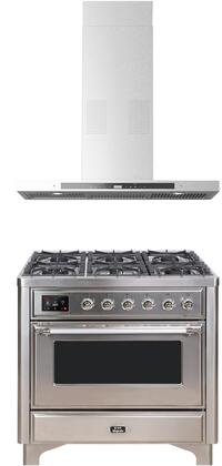 Ilve Majestic II 1150525 Kitchen Appliance Package Stainless Steel, Main image