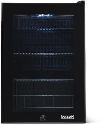 AB-850B 19″ Compact Beverage Center with 90 Can or 2.2 cu. ft. Capacity  Removable Metal Wire Racks  Double Pane Glass Door  in