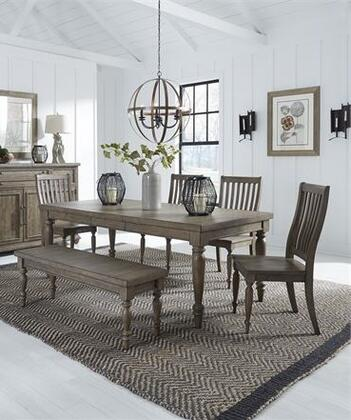 Liberty Furniture Harvest Home 779DR6RTS Dining Room Set Brown, 779 dr 6rts Main