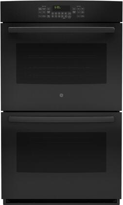 GE  JT5500DFBB Double Wall Oven Black, Main Image