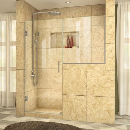DreamLine  SHDR2428363604 Shower Door , UnidoorPlus Shower Door 39 30D 30BP 04