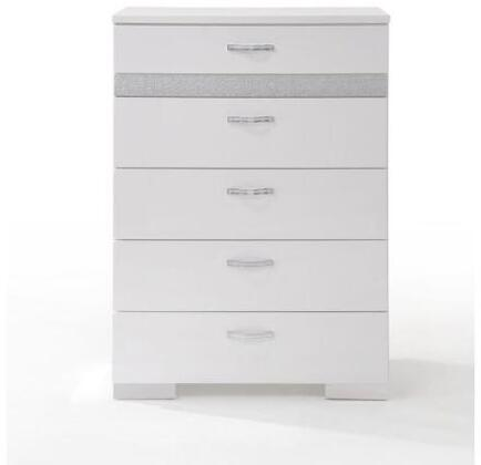 Acme Furniture Naima II 26776 Chest of Drawer White, Front View