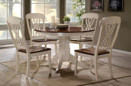 Acme Furniture Dylan 70330T4C Dining Room Set White, 5 PC Set