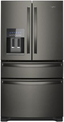 Whirlpool  WRX735SDHV French Door Refrigerator Black Stainless Steel, Main Image