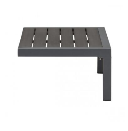 Zuo Santorini 703901 Outdoor Patio Table Black, 703901 Front