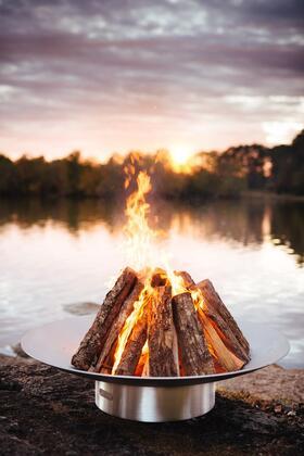 BELLA VITA58-FPA-MLS180-LP 58″ Fire Pit with 180K BTU Brass Burner  and Match Lit Ignition System – Liquid