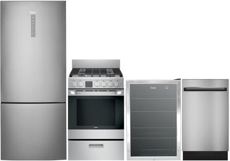 Haier 892686 Kitchen Appliance Package & Bundle Stainless Steel, main image