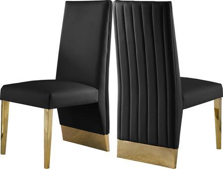Meridian Porsha 749BLACKC Dining Room Chair Black, 749BLACKC Main Image