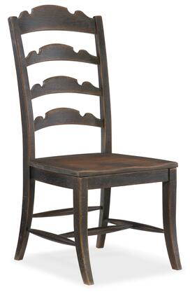 Hooker Furniture Hill Country 596075310BLK Dining Room Chair, Silo Image