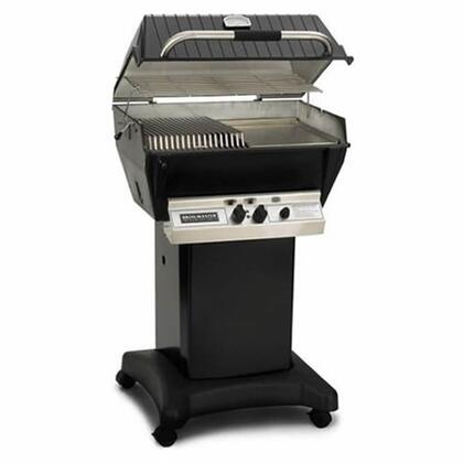 24″ Premium Series Freestanding Natural Gas Grill with 437 sq. in. Cooking Surface  40000 BTU Total Output  2 Bowtie Burners  Warming Rack  and