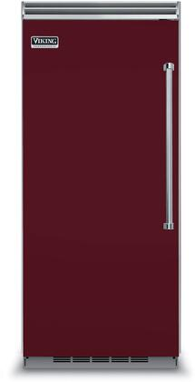 Viking 5 Series VCFB5363LBU Upright Freezer Red, Font view