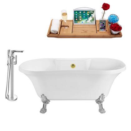 Streamline NH100CHGLD120 Bath Tub, NH100CH GLD 120 1T