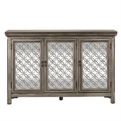Westbridge Series Collection 2012-AC5636 3 Door Cabinet White Dusty Wax Finish & Wire Brushed Gray includes Two Door Cabinet  Block Foot  Decorative