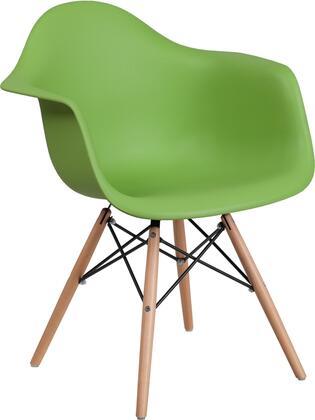 Flash Furniture Alonza FH132DPPGNGG Accent Chair Green, FH 132 DPP GN GG