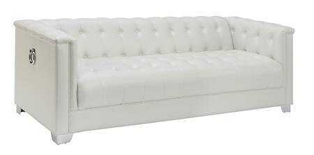 Coaster Chaviano 505391 Stationary Sofa White, Main Image