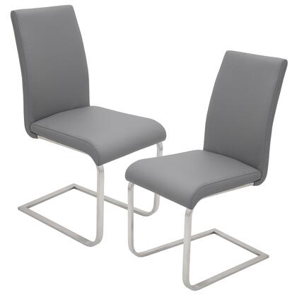 LumiSource Foster DCFSTRGY2 Dining Room Chair Gray, DC FSTR K2 GY (1)