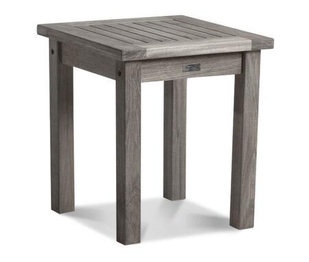 Nantucket Collection DN-5218WT 18″ Side Table with Teak Construction  Stainless Steel and Brass Hardware  Mortise and Tenon Joinery in