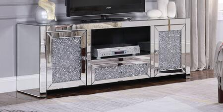 Acme Furniture  91450 52 in. and Up TV Stand Silver, TV Stand
