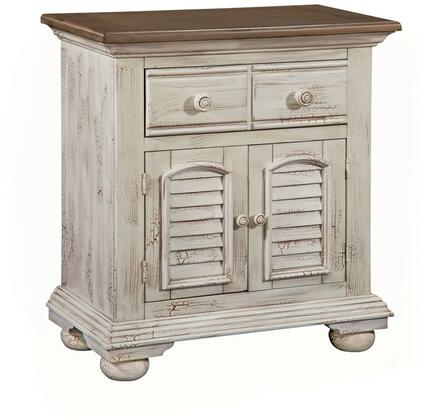 American Woodcrafters Cottage Traditions Crackled White 6540412 Nightstand White, Main Image