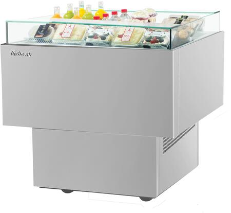 Turbo Air TOS30PNS Display and Merchandising Refrigerator Stainless Steel, TOS30PNS Angled View
