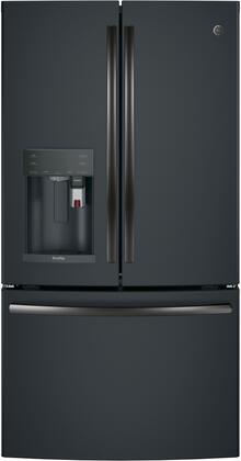 GE Profile PYE22PELDS French Door Refrigerator Black Slate, Main Image