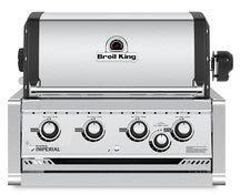 956077 32″ Imperial 470 Natural Gas Built in Grill with 4 Main Burners  44000 BTU Main Burner Output  and 15000 BTU Stainless Steel Rear Rotisserie