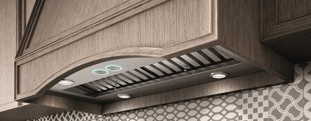EAR146S4 46″ Pro Series Arezzo Insert Range Hood with 1200 CFM  Hush System  Baffle Filters and LED Lighting in Stainless