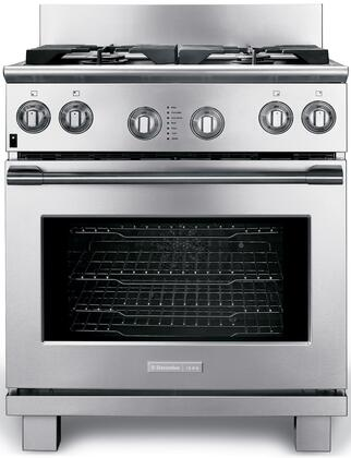 Electrolux Icon Professional E30DF74GPS Freestanding Dual Fuel Range Stainless Steel, 1