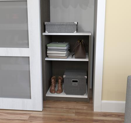 Bestar Furniture 801691147 Cabinet, bestar cielo bark gray 80169 47 room