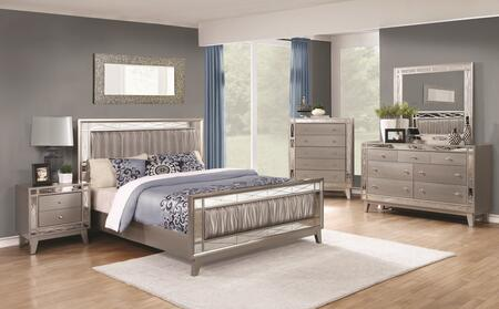 Coaster Leighton 204921KESET Bedroom Set Gray, 5 PC Set