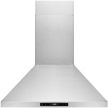 WM-538SS-36 36″ WM-538 Wall Mount Range Hood with 860 CFM  LED Lighting  Stainless Steel Baffle Filters and Touch Screen Panel in Stainless