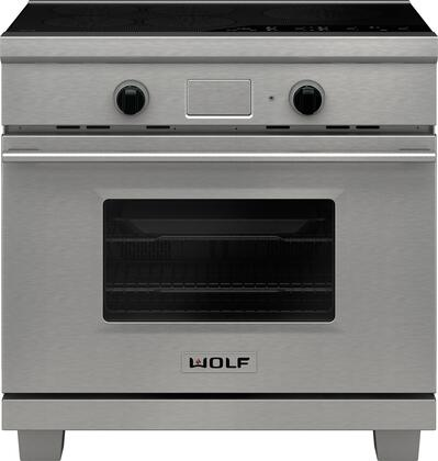 Wolf IR365PESPH 36 Inch Stainless Steel Induction Electric Freestanding  Range, in Stainless Steel   Appliances ConnectionAppliances Connection