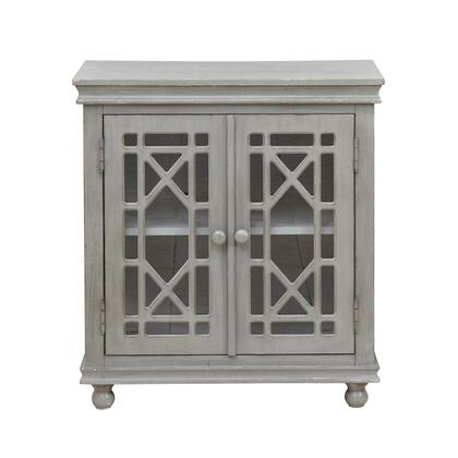 DS-C063-011 Two Door Lattice Accent Chest in Weathered