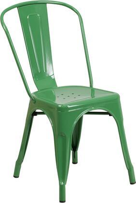 Flash Furniture CH31230 CH31230GNGG Patio Chair Green, CH31230GNGG side