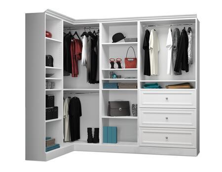 Bestar Furniture Versatile 4085417 Wardrobe White, Image 1
