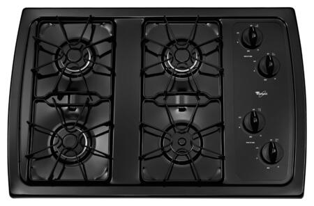 Whirlpool W3CG3014XB Gas Cooktop Black, Burner Configuration