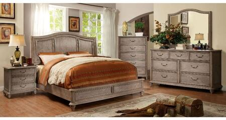 Furniture of America Belgrade II CM761CKBDMCN Bedroom Set Brown, Main Image