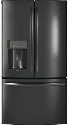 GE Profile PYD22KBLTS French Door Refrigerator Black Stainless Steel, Main View