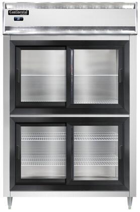 Continental Refrigerator Designer Line D2RNSSSGDHD Reach-In Refrigerator Stainless Steel, D2RNSSSGDHD Reach-In Refrigerator
